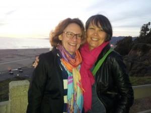 Vivian (left) and Laali at the Santa Monica Beach